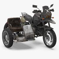 3D model pubg motorcycle