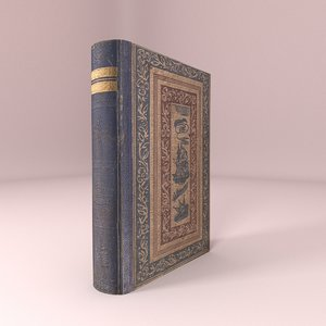 3D old book