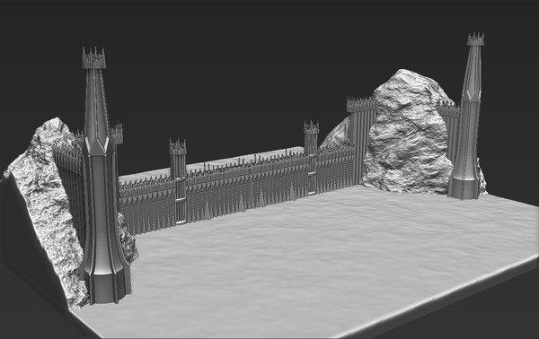 printing ready black gate 3D model