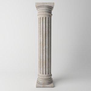 3D antique column model