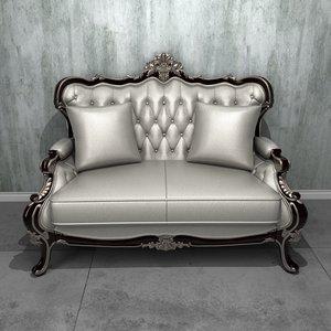 deluxe 2-seater sofa 3D model