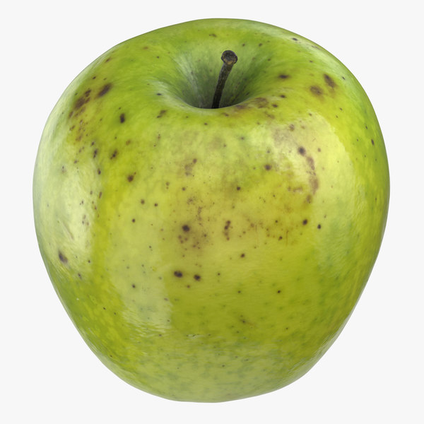 granny smith apple 05 3D model