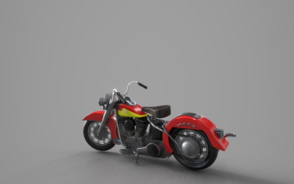 3D motorbike harley 50 s model