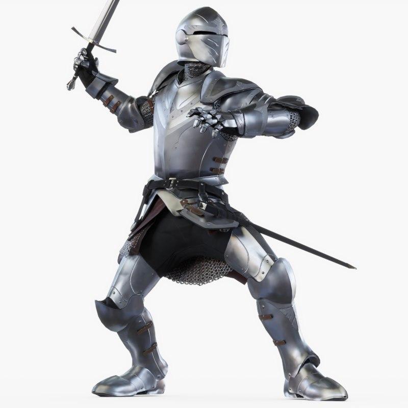 3D knight attack model