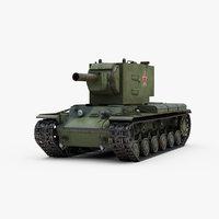 ww2 russian tank kv2 3D
