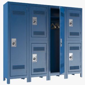 lockers modeled pbr model
