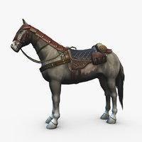 adventurer horse armor saddle model