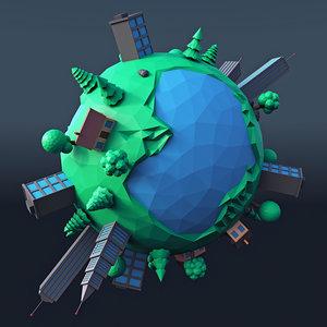 cartoon planet 4 3D