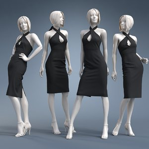 3D dress cloth mannequin model