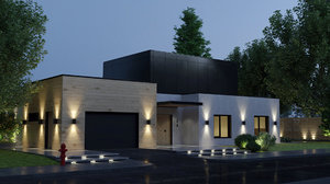 3D private residence house