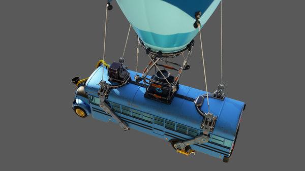3D party bus model