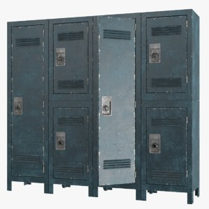 old lockers 3D model