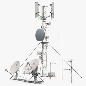 antennas modular towers 3D model