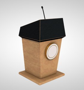 speech podium model