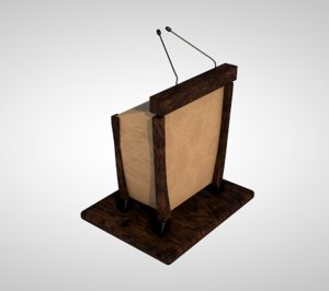 3D speech podium
