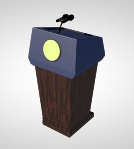 speech podium 3D
