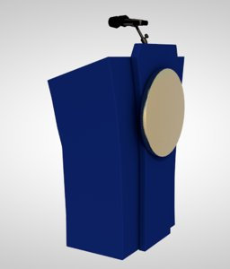 speech podium 3D model