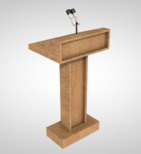 3D model speech podium