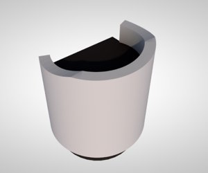 3D speech podium platform