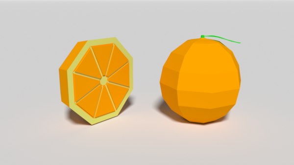 cartoon orange 3D model