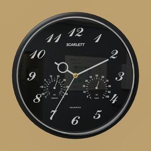3D wallclock wall clock model