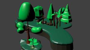 plants rocks 3D model