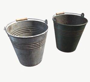 pbr old bucket 3D model