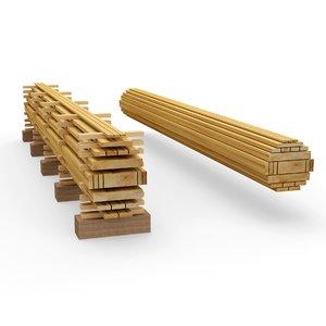 wooden planks 3D