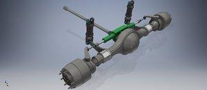 3D model duty truck mechanical