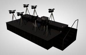 press risers 3D model
