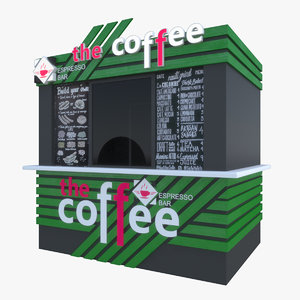 3D coffee shop