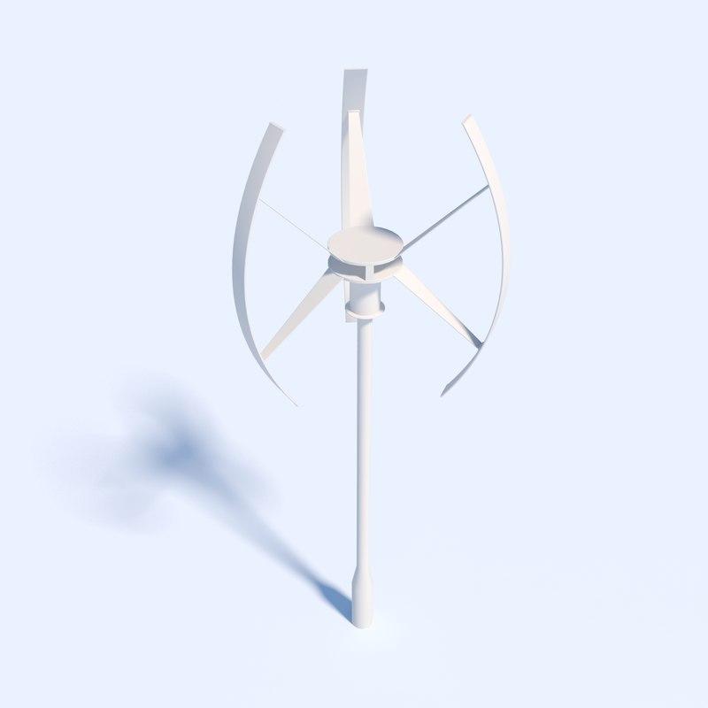 Vertical Axis Wind Turbine 3d model