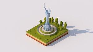 cartoon motherland monument 3D model