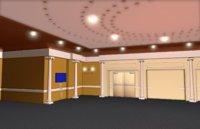 executive meeting room 3D model