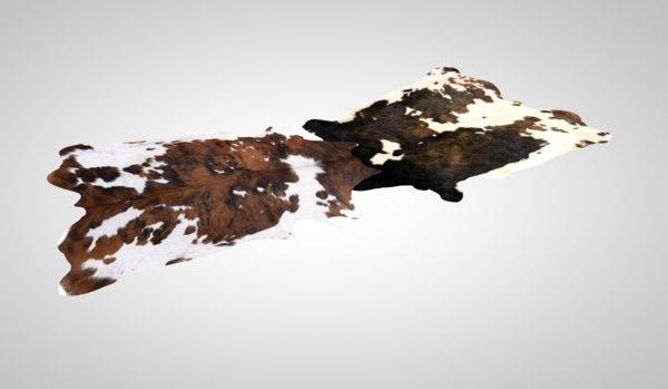 cow carpet rug 3D model