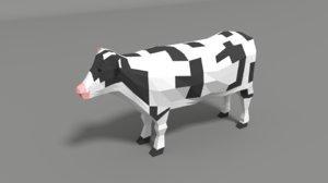 cartoon cow model