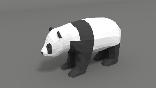 3D cartoon panda