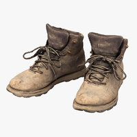 worker shoes 3D model