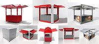 3D kiosks modo model