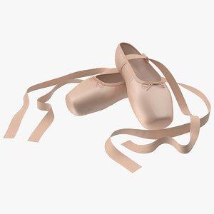 ballet shoes 3D model