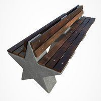 3D park bench star