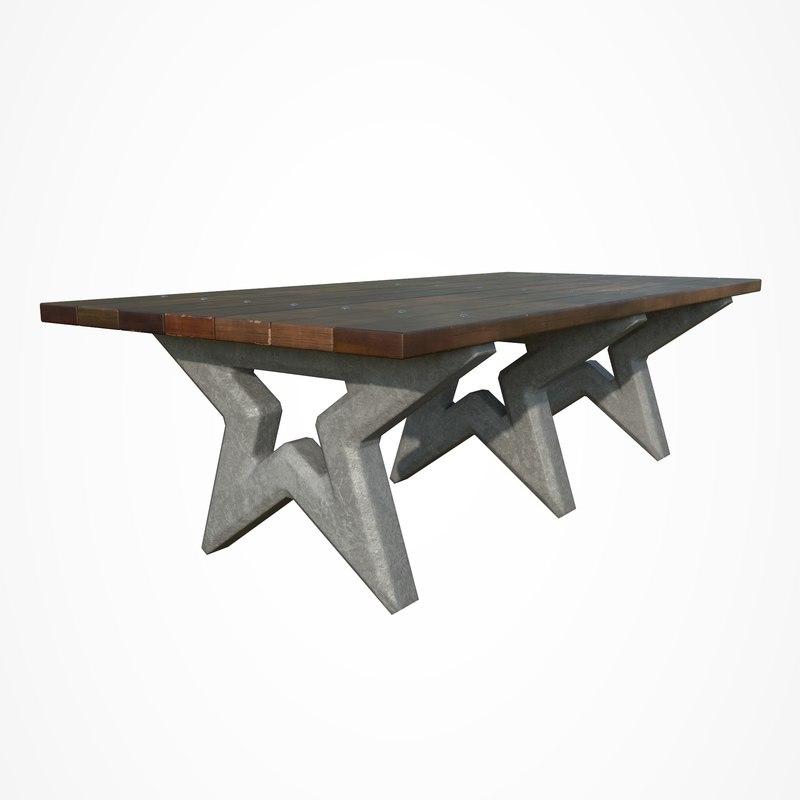 park table star 3D model