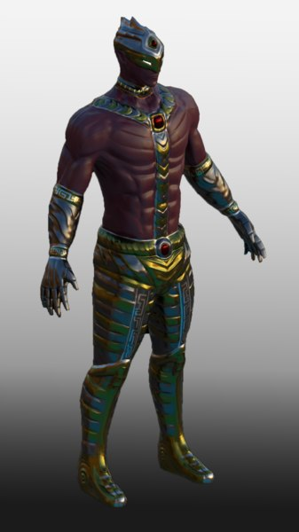 sci-fi character 3D model