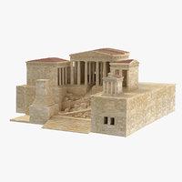 3D propylaea gateway acropolis
