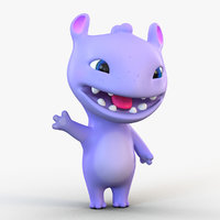 3D cute cartoon monster model