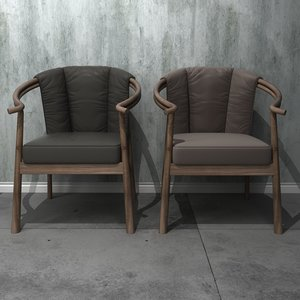3D single person sofa 4 model