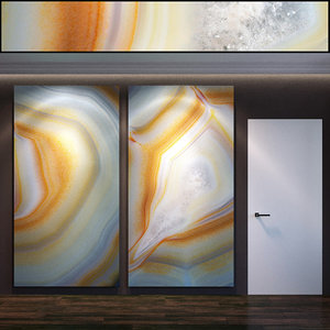 wall panel set 55 3D model