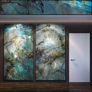 wall panel set 61 3D model