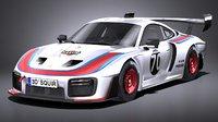 LowPoly Porsche 935 2019 MobyDick