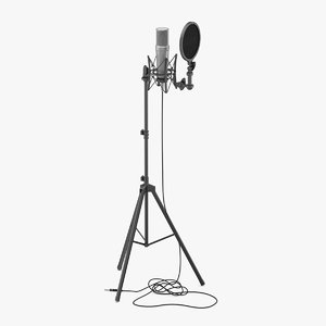 3D microphone studio mic model
